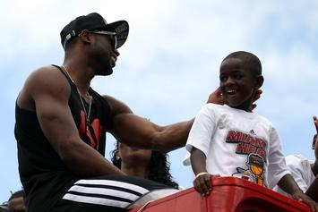 Watch Dwyane Wade & His 16-Year-Old Son Trade Alley-Oops