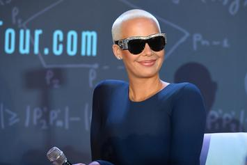 Amber Rose Flaunts Sexy Curves In A Barely There Bathing Suit