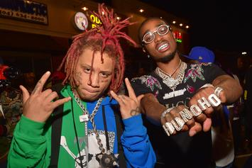 Quavo & Trippie Redd Post Up In The Studio With A Lot Of Cash