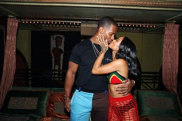 "Karrueche Says She & Victor Cruz ""Just Mesh Very Well"""