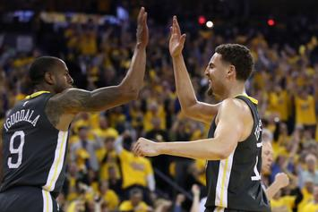 Warriors' Klay Thompson Questionable For Game Two, Iguodala Remains Doubtful