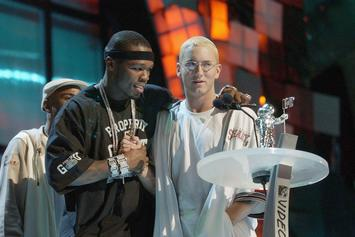 Eminem & 50 Cent Greet Make A Wish Foundation Kids At Governor's Ball