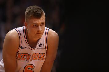 Kristaps Porzingis Nursing Torn ACL In Ibiza With European Dimepiece