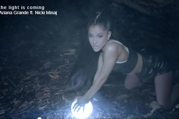 "Ariana Grande & Nicki Minaj Dance In The Dark In ""The Light Is Coming"" Music Video"