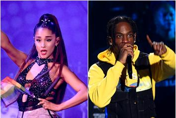 "Ariana Grande Jokes About Travis Scott Taking No. 1 Over ""Sweetener"""