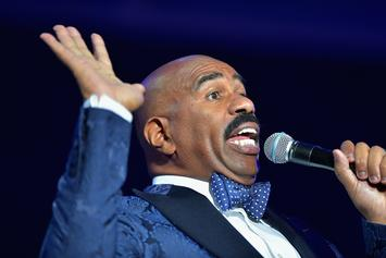 Steve Harvey Ditches Signature Mustache Look