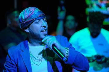French Montana & Swizz Beatz Fill Funk Flex's Studio With Hookah Smoke