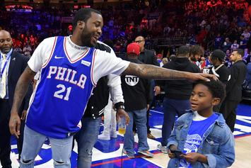Meek Mill Sinks Ridiculous No-Look Half Court Shot For $50K