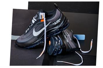 "Off-White x Nike Air Max 97 ""Black/Cone"" Releasing Soon Via Nike SNKRS"