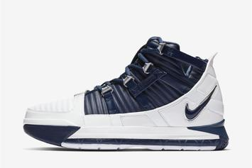 """Nike LeBron 3 Returning In """"White/Navy"""" Colorway: Official Images"""