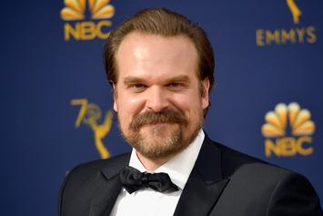 "David Harbour Talks Trash At ""Avengers"" As He Announces ""Hellboy"" Trailer"