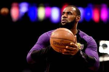 LeBron James Takes Selfie With Fan Who Ran Onto Court At Barclays