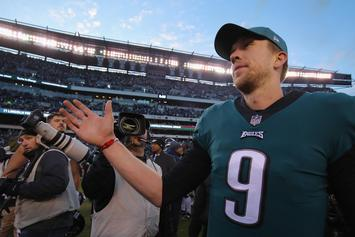 Nick Foles Emotional After Breaking Philadelphia Eagles Passing Record