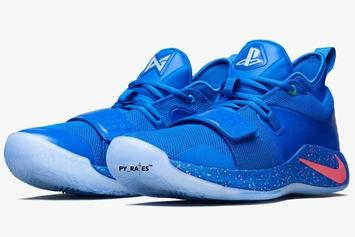 """PlayStation X Nike PG 2.5 """"Blue Multi-Color"""" Gets An Official Release Date"""