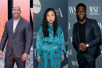 The Rock Invites Awkwafina To Kick Kevin Hart In The Balls