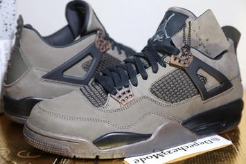"Travis Scott X Air Jordan 4 ""Olive"" Sample New Images"