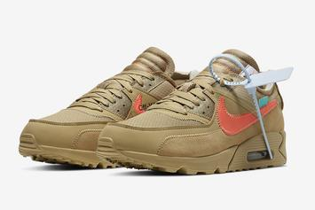 "Off-White x Nike Air Max 90 ""Desert Ore"" Coming Soon: Official Images"