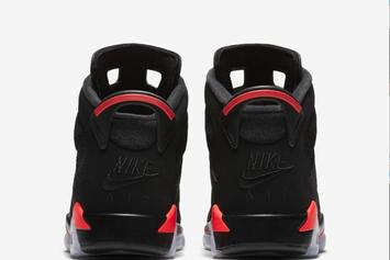 "Air Jordan 6 ""Black/Infrared"" Returning In Sizes For The Whole Family"