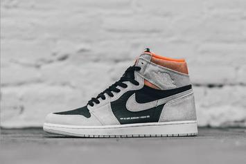 "Air Jordan 1 ""Neutral Grey/Crimson"" Debuts This Week: Official Images"