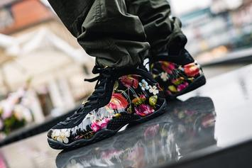 """Nike Air Foamposite One """"Floral"""" Coming Soon: On-Foot Images"""