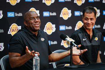 Magic Johnson To Meet With Lakers Players After Failed Davis Trade