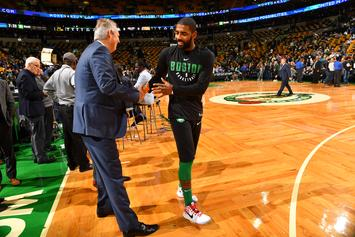 "Danny Ainge Reacts To ""Illogical"" Questions Concerning Kyrie Irving's Efficiency"
