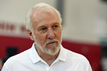Gregg Popovich Slaps Himself During Exchange With Reporters