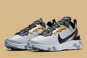 "Nike React Element 55 ""Gold Ranger"" Release Info"