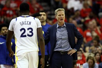 "Steve Kerr Appears To Say, ""I'm So F*cking Tired Of Draymond"": Video"
