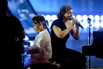 Alicia Keys & Son Egypt Dean Perform Piano Duet At iHeartRadio Awards