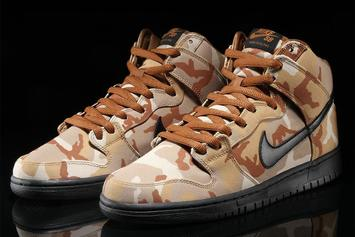 """Nike SB Dunk High """"Desert Camo"""" Released Today: Details"""