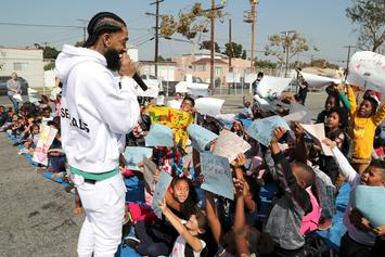 Fans Swarm Nipsey Hussle's Marathon Clothing Store To Mourn Rapper's Sudden Death