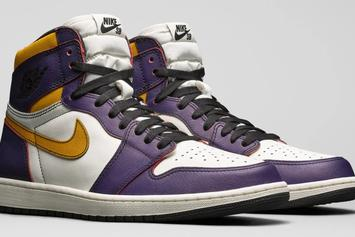 "Nike SB X Air Jordan 1 ""Lakers"" & ""Light Bone"" Official Images"