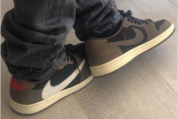 Travis Scott x Air Jordan 1 Low Rumored For September: On-Foot Images