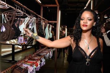 Rihanna Seductively Struts Her Stuff In A Leopard Lace Bra