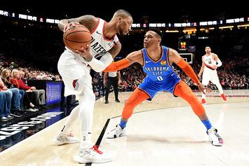 """Damian Lillard Says No Bad Blood With Westbrook: """"We're Actually Cool"""""""