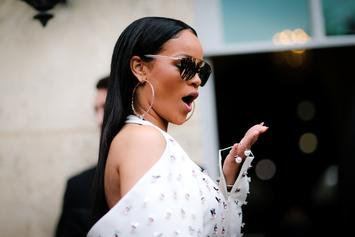 af4e128602f Rihanna Outdoes Herself By Rocking Bare Minimum In Lace Lingerie Photo