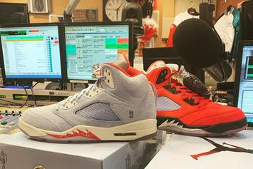 "Charlamagne, DJ Envy Gifted Exclusive ""Trophy Room"" Air Jordan 5 Pack"