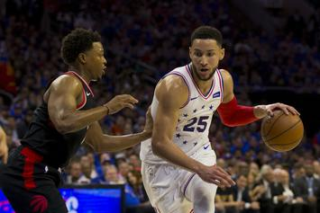 Ben Simmons Elbows Kyle Lowry In The Groin During Blowout Win