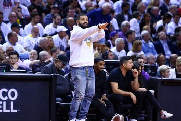 """Drake Shows Love To Former Canadian Series """"Breaker High"""" At Raptor's Game"""