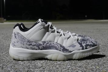 "AIr Jordan 11 Low Snakeskin ""Light Bone"" Drops Next Month: Closer Look"