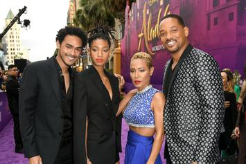 """""""Aladdin"""" Premier Has The Whole Smith Family Showing Up And Looking Fresh"""