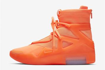 """Nike Air Fear Of God 1 """"Frosted Spruce"""" & """"Orange"""" Releasing At Select Foot Lockers"""