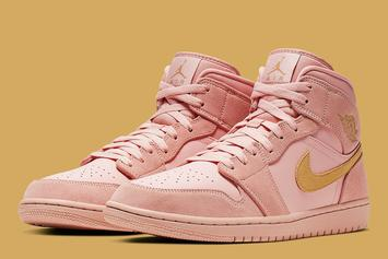 "Air Jordan 1 Mid SE ""Coral/Gold"" Dropping Soon: Official Images"