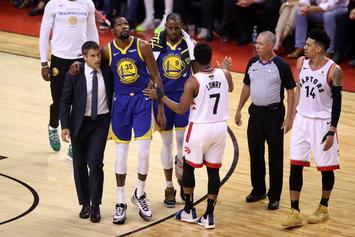 """Steph Curry Talks """"Ugliness"""" Of Raptors Fans Cheering Kevin Durant's Injury"""