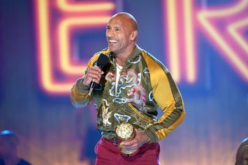 "Dwayne Johnson Shares ""It's More Important To Be Nice"" In MTV Award Speech"