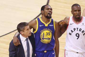 """Kevin Durant Is Reportedly """"Really Pissed"""" At Warriors After Injury"""