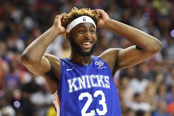 Lakers Prospect Steals Mitchell Robinson's Headband & Throws It: Watch