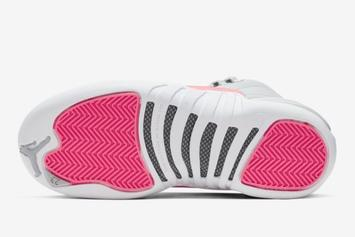 "Air Jordan 12 ""Racer Pink"" Releasing This Month: Official Images"