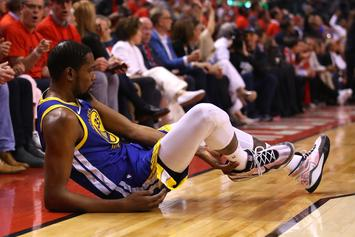Kevin Durant Displays Achilles Recovery By Walking Without Crutches